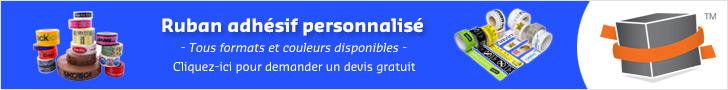 Ruban adhésif personnalisé sur mesure de qualité sur la boutique en ligne Toutembal.fr