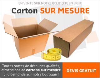 Emballage carton sur mesure, caisse américaine sur mesure, carton en longueur sur mesure (Devis GRATUIT en cliquant ici)