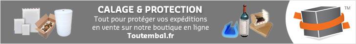 Tout le nécessaire pour la calage et la protection de vos envois est disponible à la vente sur notre boutique en ligne en cliquant ici.