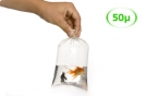 Grand sachet plastique transparent - 600 x 1000 mm - 50 µ