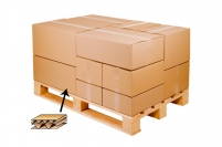 Caisse carton palettisable double cannelure