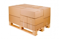 Caisse carton palettisable simple cannelure