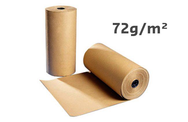 Rouleau De Papier Kraft Qualité économique 72 Gm² 60 Cm X 300 M